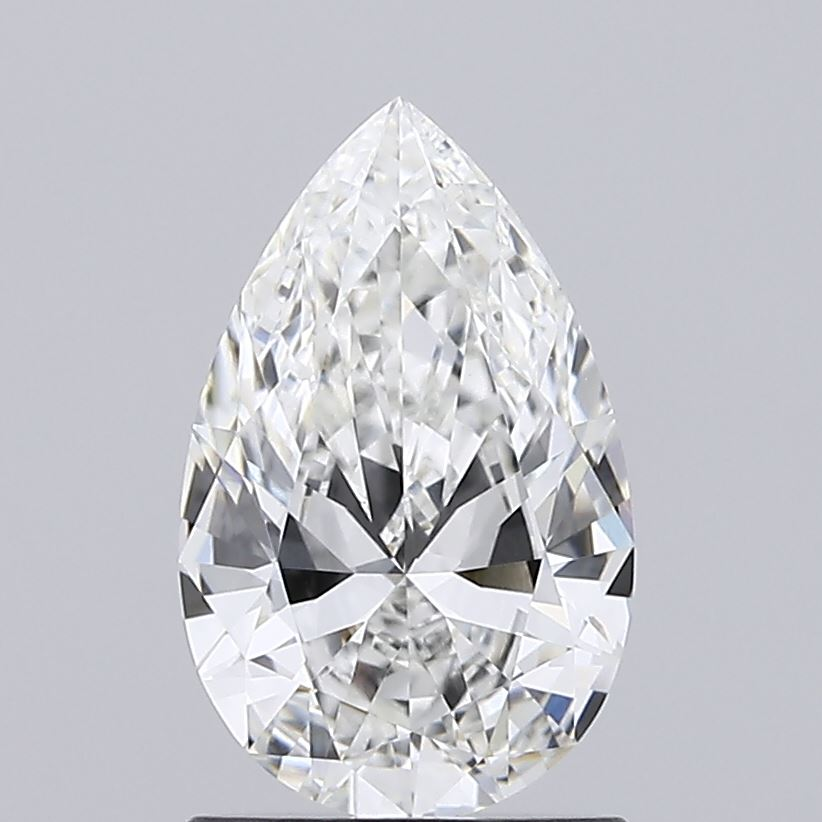 1.07 Carat F-VVS1 Excellent Pear Diamond