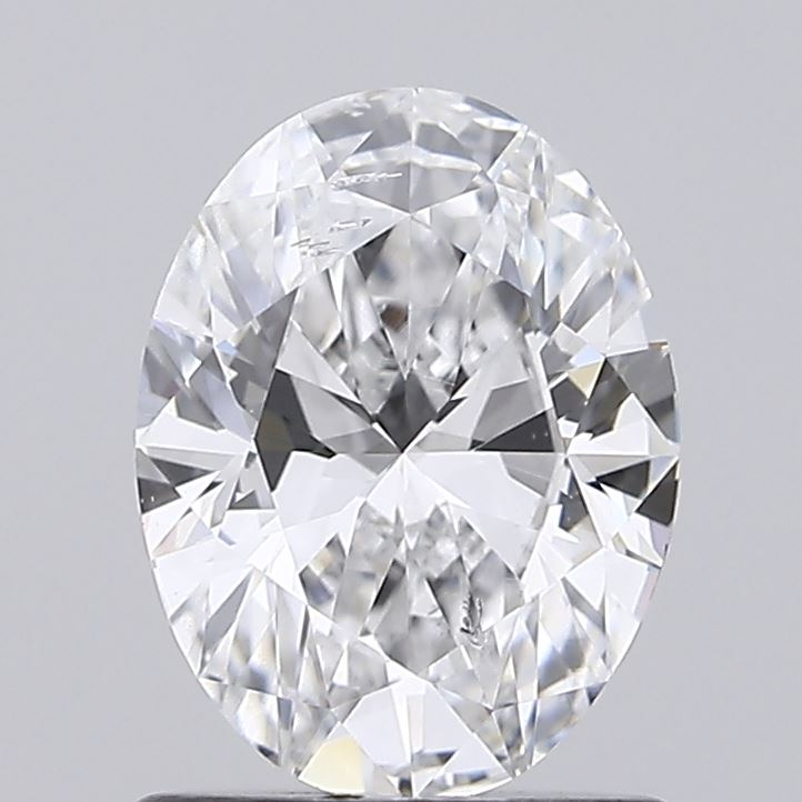 1.00 Carat D-SI1 Excellent Oval Diamond